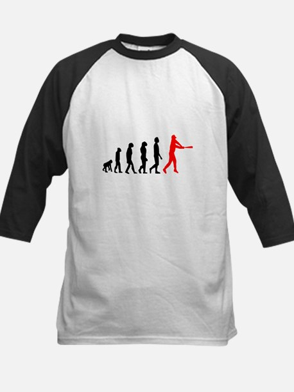 Baseball Evolution Red Kids Baseball Jersey
