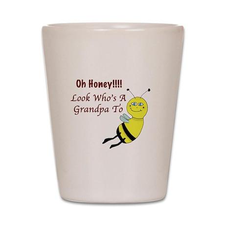 Honey Grandpa To Be Shot Glass