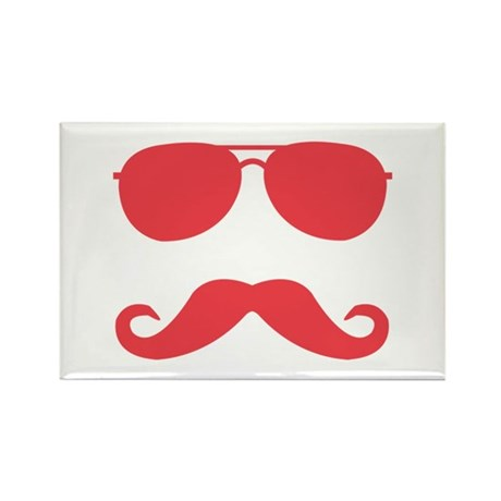 glasses and mustache Rectangle Magnet (10 pack)