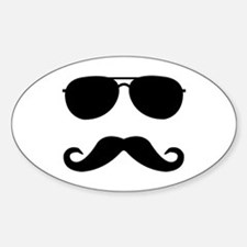 glasses and mustache Decal