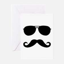 glasses and mustache Greeting Cards (Pk of 20)