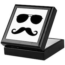 glasses and mustache Keepsake Box