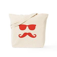 glasses and mustache Tote Bag