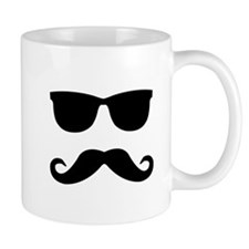 glasses and mustache Mug