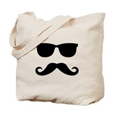 glasses and mustache Tote Bag