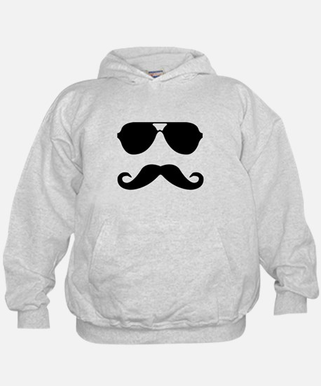 glasses and mustache Hoodie