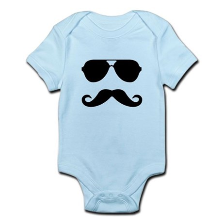 glasses and mustache Infant Bodysuit