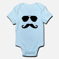 glasses and mustache Onesie