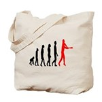 Baseball Evolution Tall Red Tote Bag