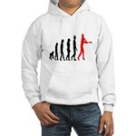 Baseball Evolution Tall Red Hooded Sweatshirt