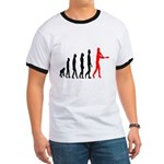 Baseball Evolution Tall Red Ringer T