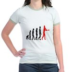 Baseball Evolution Tall Red Jr. Ringer T-Shirt