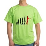 Baseball Evolution Tall Red Green T-Shirt