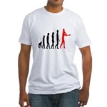 Baseball Evolution Tall Red Fitted T-Shirt
