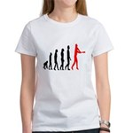 Baseball Evolution Tall Red Women's T-Shirt