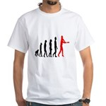 Baseball Evolution Tall Red White T-Shirt
