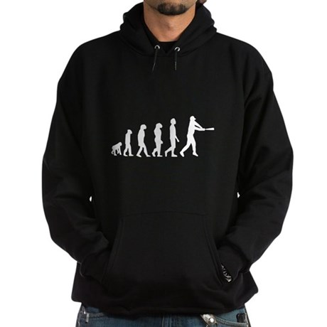 Baseball Evolution White Hoodie (dark)