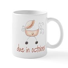 October Due Date Pink Buggy Mug