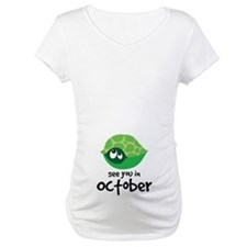 October Maternity Turtle Shirt