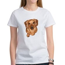 'Tiger Dachshund Dog Heads/Tails Tee