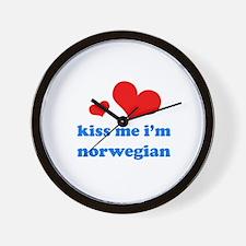 Cute Norwegian girls Wall Clock