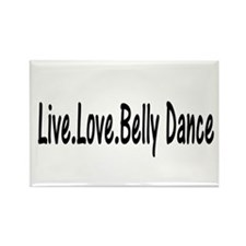 Cute Belly dancing Rectangle Magnet