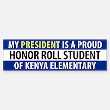 Anti-Obama Kenya Elementary Bumper Bumper Sticker