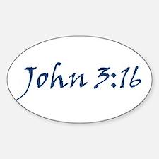 John 3:16 Oval Decal