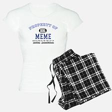 Property of Meme pajamas