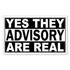 Yes They're Real Advisory Rectangle Decal