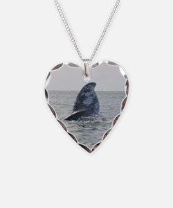 Heart Necklace-Whale (Gray)