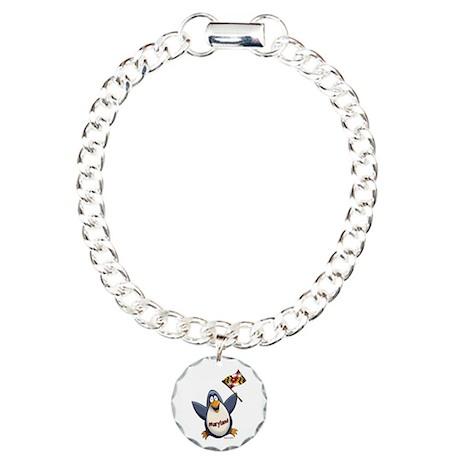 Maryland Penguin Charm Bracelet, One Charm