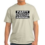 Party Animal Advisory Ash Grey T-Shirt