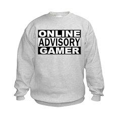 Online Gamer Advisory Sweatshirt