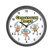 Graduation Rocks Wall Clock