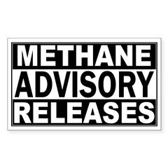 Methane Release Advisory Rectangle Decal