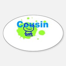 Cousin Gift Sticker (Oval)