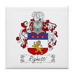 Righetti Family Crest  Tile Coaster