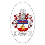 Righetti Family Crest Oval Sticker