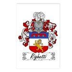 Righetti Family Crest  Postcards (Package of 8)