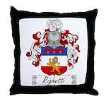 Righetti Family Crest  Throw Pillow