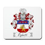 Righetti Family Crest  Mousepad