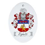Righetti Family Crest  Oval Ornament