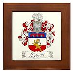Righetti Family Crest  Framed Tile