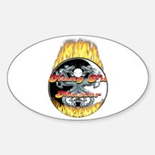 Kung Fu Master Oval Decal