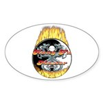 Kung Fu Master Oval Sticker