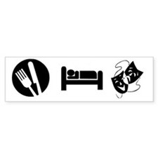 Eat Sleep Theatre Car Sticker