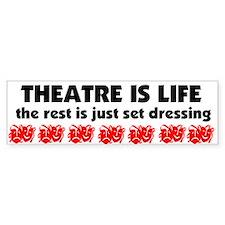 Theatre Junkie Bumper Sticker