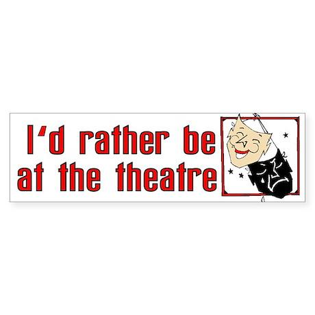 At the Theatre Sticker (Bumper)