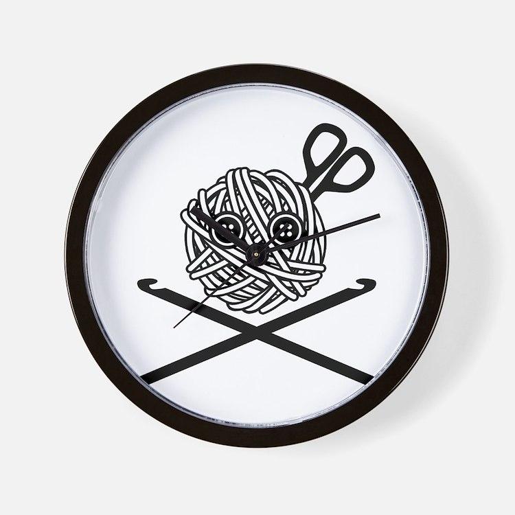 Pirate Crochet Wall Clock